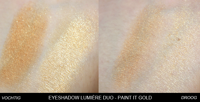 Swatches Eyeshadow Lumière Duo Paint it Gold