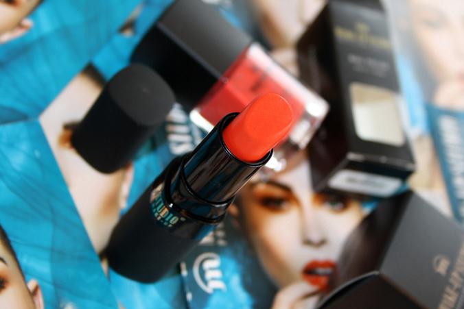 Obivous Orange lipstick