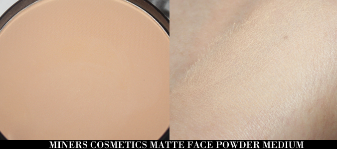 Miners Cosmetics Matte Face Powder huid
