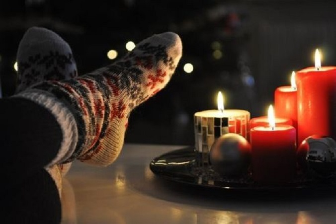 Fuzzy socks & candlelight