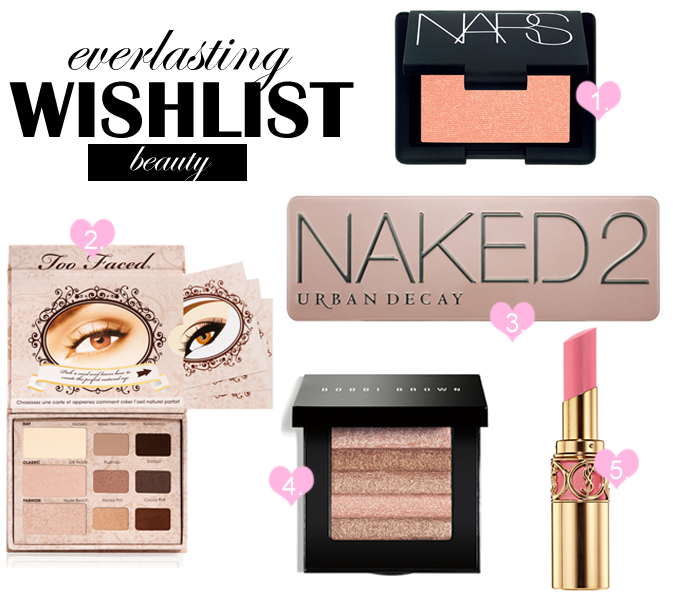 Everlasting make-up wishlist - top 5
