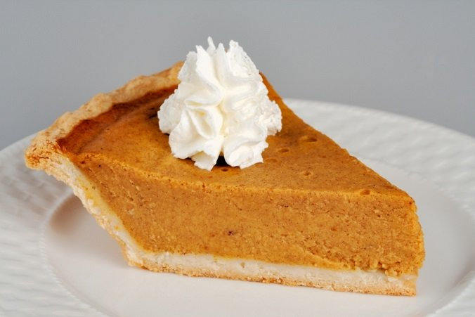 Pumpkin Pie with Whipped Cream