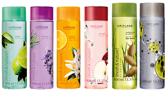 Oriflame Fresh & Nature eau de colognes