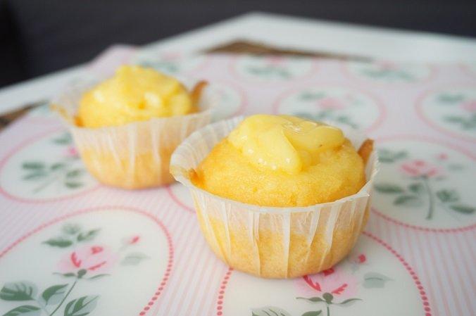 custard cupcake
