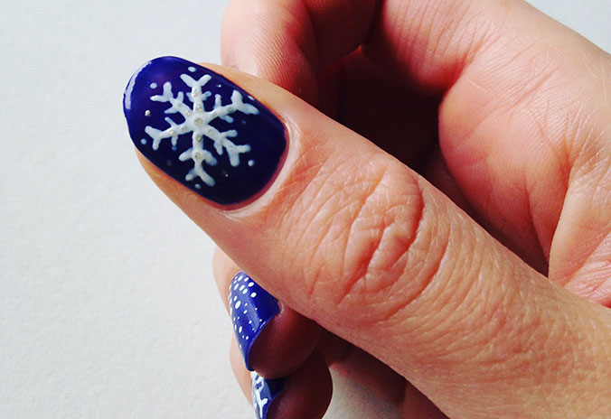 Diy nail-art winternagels